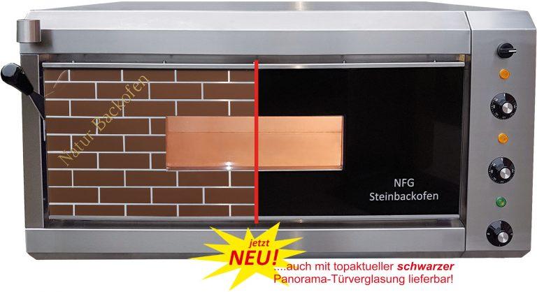 NFG Brotbackofen NBO 4 mit brauner und schwarzer Türe mit Beschriftung