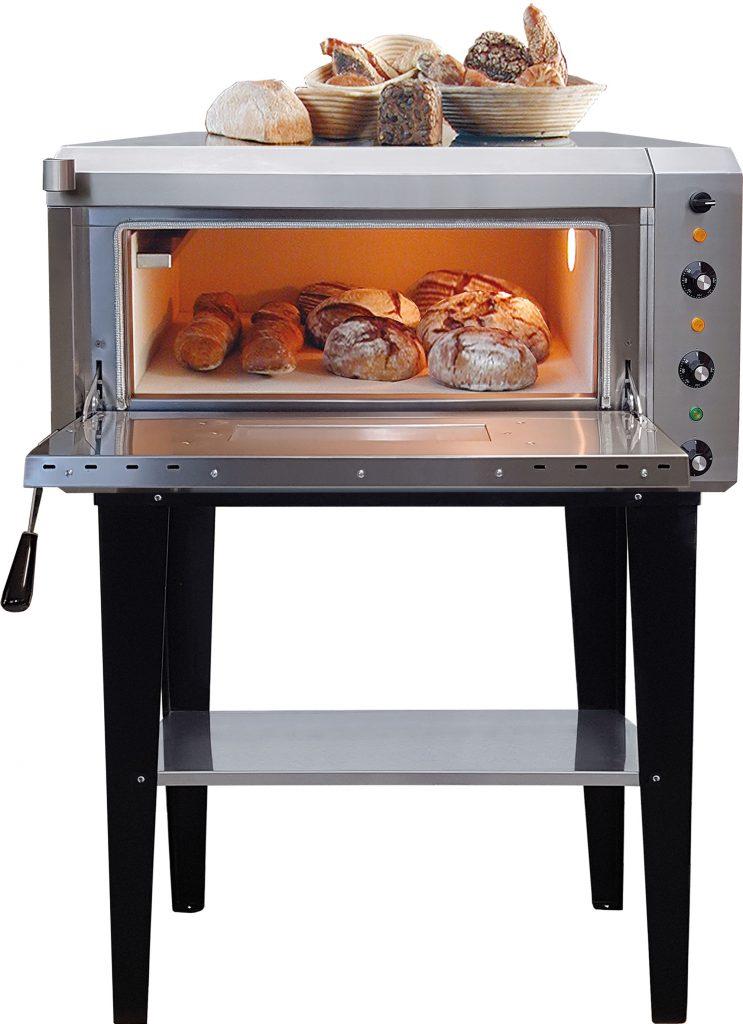 NFG Brotbackofen NBO 4 Elektro Vollstein Steinbackofen mit Untertisch und Brot