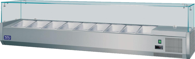 NFG Aufsatzkühlvitrine AV2000 Aufsatzvitrine Kühlung Pizzakühlung