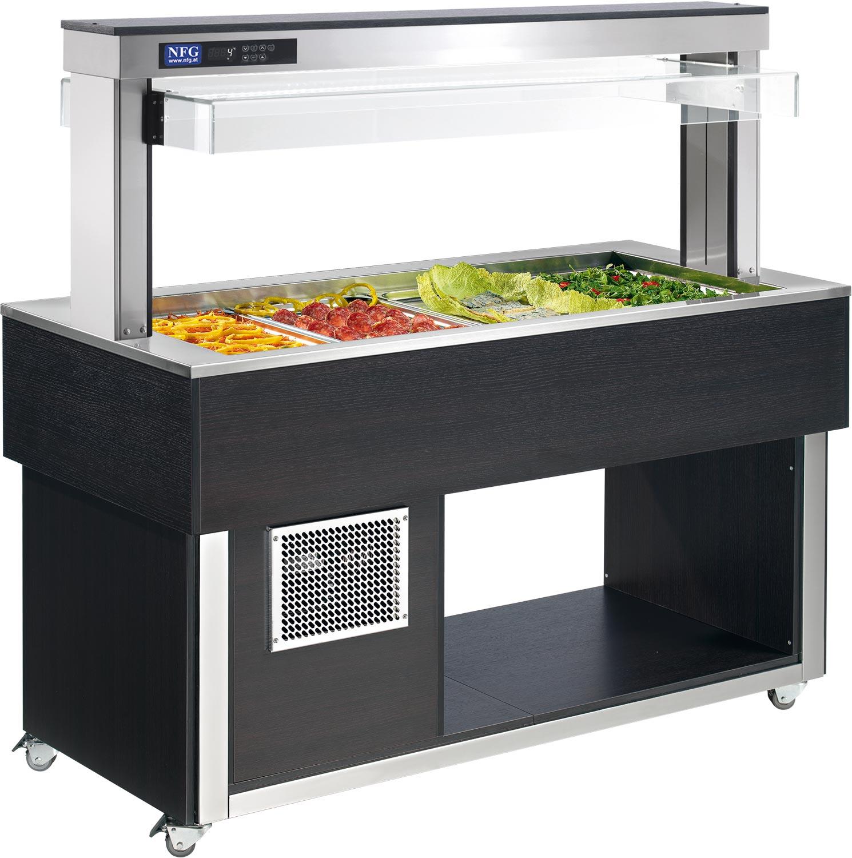 NFG Kalt Buffet Einrichtung und Geräte Salatbuffet Ausgabe TR green Buffetanlagen