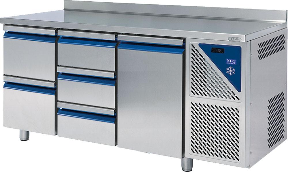 NFG Kühltisch KT3 mit Laden und Tiefkühltisch Kühlunterbau Kühlpult