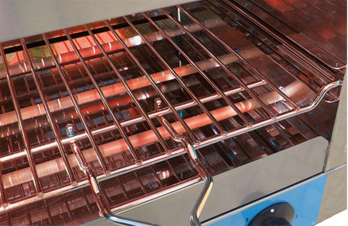 NFG Grill und Back Toaster ECT 3200 4200 mit Quarzheizstäbe Glasheizstäbe sofort Betriebsbereit ohne Vorheizen