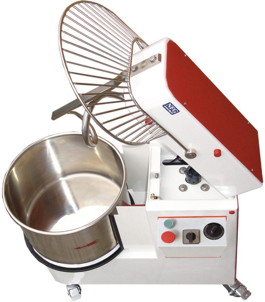 Aktion Gebraucht Shop KM 33 K Teigknetmaschine Knetmaschine Spiralkneter mit aufklappbarem Knetkopf und abnehmbarer Teigschüssel Kessel